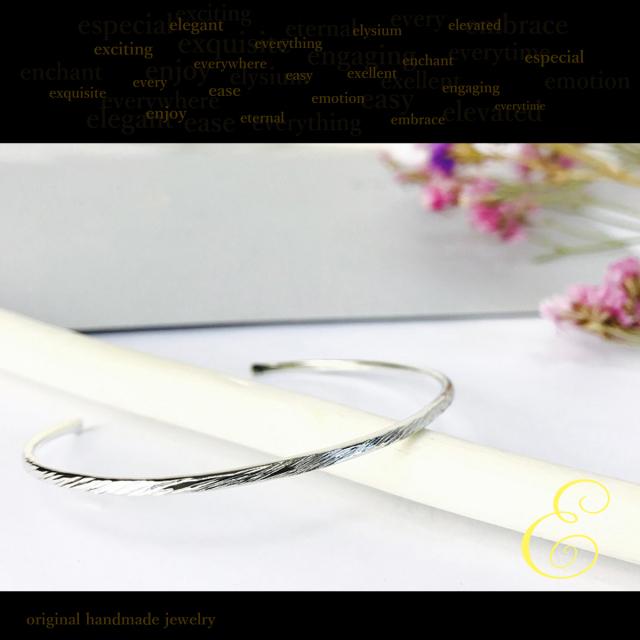 バングル silver950 ブレスレット レディース rope silver950バングルe [メール便可]