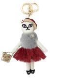 おしゃれにおでかけ 猫バッグチャーム 「白雪猫」