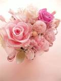 プリザーブドフラワー母の日 結婚祝いに特殊メリアパールピンクローズカーネーションさくらS