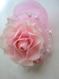 【成人式や結婚式の和装  グラデーションピンク 髪飾り】