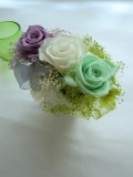 【プリザーブドフラワーギフト】お誕生日、結婚祝いにスワロフスキーグラデーションプリザーブドフラワー