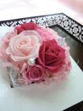 プリザーブドフラワーギフト母の日、 結婚祝い等の贈り物にボックスピンクアゼリア