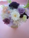 プリザーブドフラワーギフト 結婚祝い お誕生日 等の贈り物に最適なやさしさあふれるパープルピーチマリアンヌ