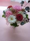 プリザーブドフラワーギフト 結婚祝いお誕生日にハートのリボンが可愛いピンクハートパート3