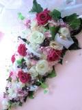 プリザーブドフラワー壁掛け 開店祝い 両親贈呈 退職祝いに最適アゼリアピンクパラソルL