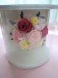 プリザーブドフラワーギフト色が選べる結婚祝い お誕生日 にハーフラウンドフレームピンクL