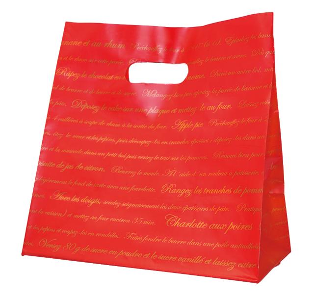 ミニ手提げ袋Lサイズ 赤