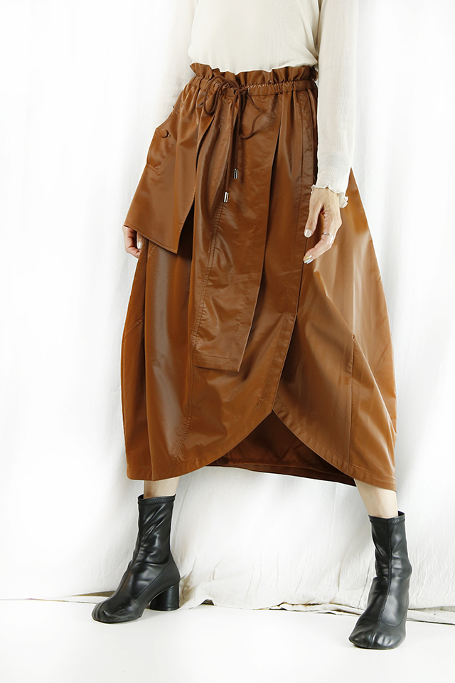 1% SHUHEI OGAWA (イチパーセント シュウヘイオガワ)  レザースカート 21A-S-23-BR