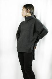 MARGAUX  (マルゴー) fleece mock neckPO MGCT-21111-A-charcoal