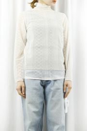 MARGAUX  (マルゴー)   inner tulle lace pullover MGAC-21029-S