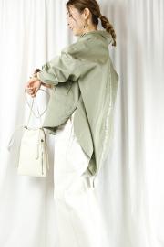 ayane (アヤン) バック縦ロゴプリントワークジャケット 811304-16