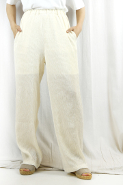 WOM(ワム) RELAX CREPE PANTS   SNB-W-14-OFFWHITE