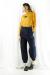 MARGAUX  (マルゴー) merino wool back botton turtleneck MGKN-21105-A-yellow