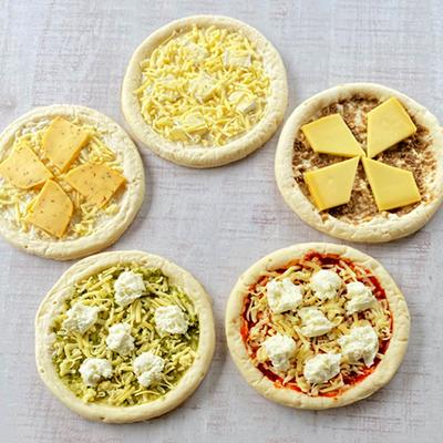 チーズ専門店のピザ5枚セット