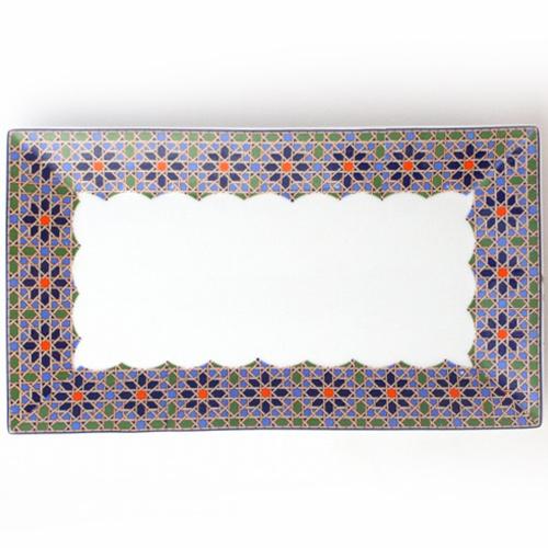 [モロッコ雑貨][皿]【マラテールMARATERRE 長方形皿 メディナ】