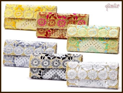 [モロッコ雑貨][クラッチバック]【ワルダ クラッチバック L】刺繍とスパンコールが華やかなクラッチバッグ