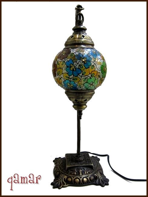 トルコ製フラワーランプ