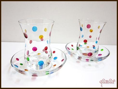 ラウンドドット チャイグラス