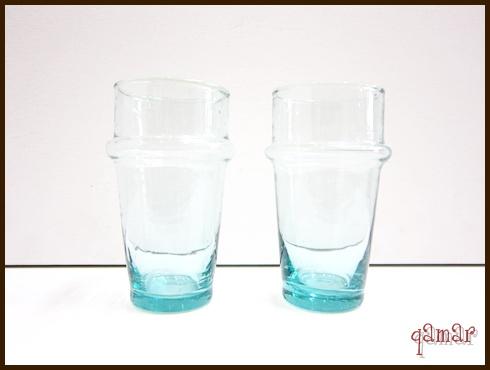 モロッコリサイクル無地グラス