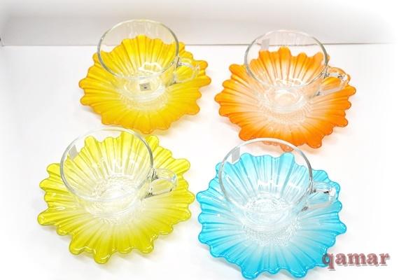 【フラワーカップ&ソーサー】ポップなカラーが可愛いらしいカップ&ソーサー