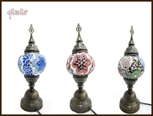 【トルコ モザイクランプ】トルコの伝統工芸品のモザイクランプ