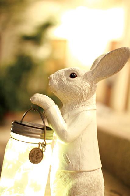 うさぎの国の魔法の小瓶◆キラキラソーラーライト
