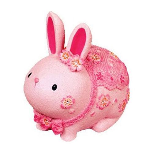 桜うさぎの貯金箱