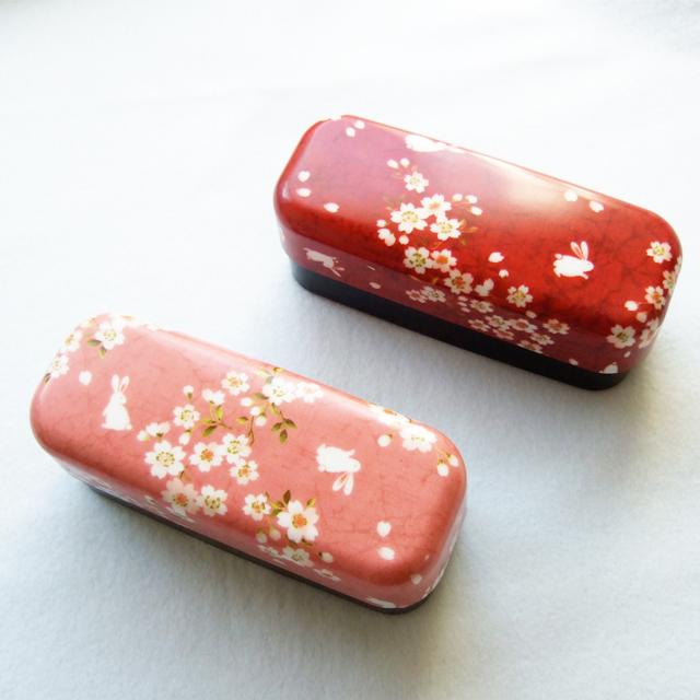 桜吹雪とうさぎ お弁当箱