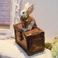 アンティーク調◆迷宮の うさぎの小箱 小物入れ