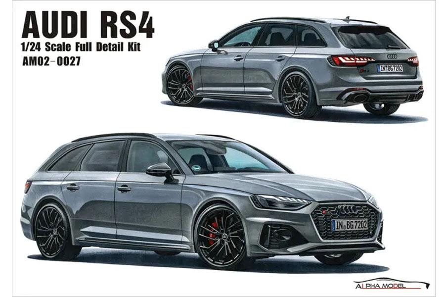 ** 予約商品 ** Hobby Design /ALPHA Model 1/24キット AM02-0027 Audi RS4