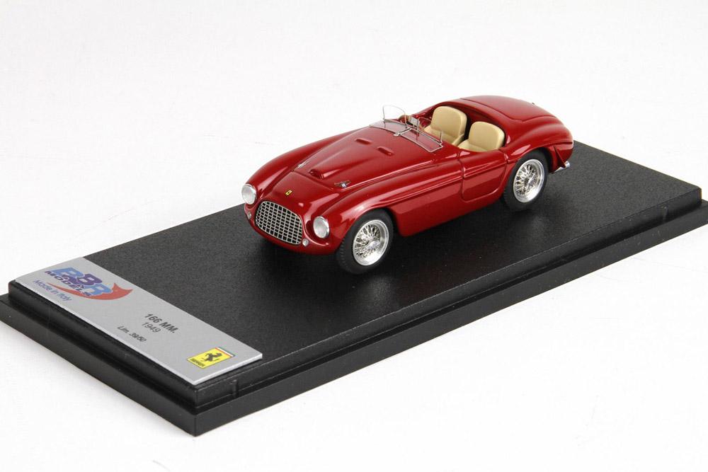 ** 予約商品 ** BBR068 Ferrari 166MM 1949 Red Limited 50pcs