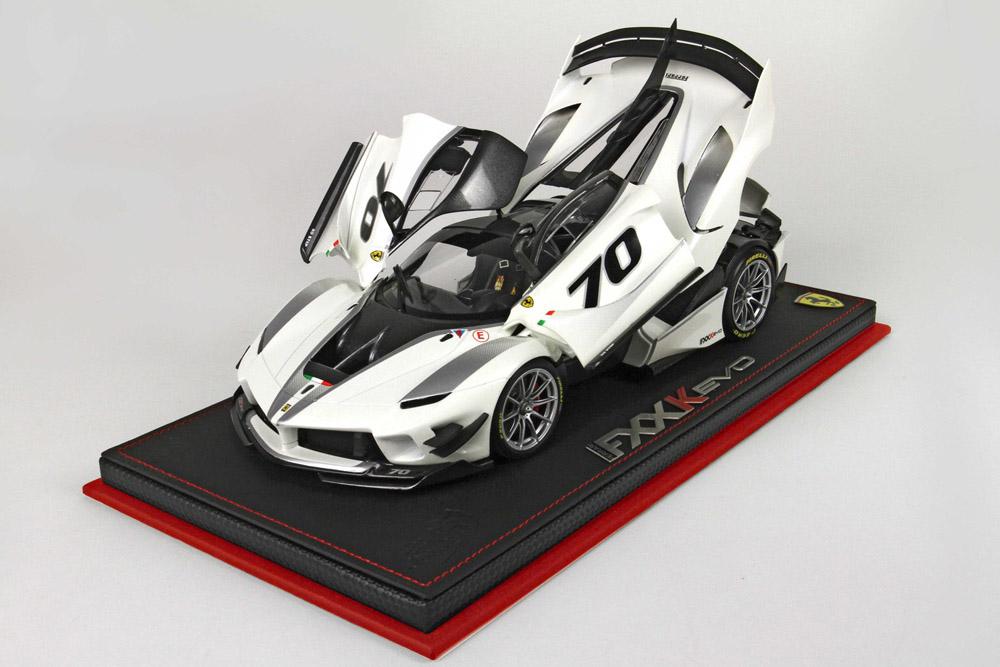 BBR 182280AST 1/18 Ferrari FXX K Evo #70 Bianco Italia Limited 499pcs (ケース付)