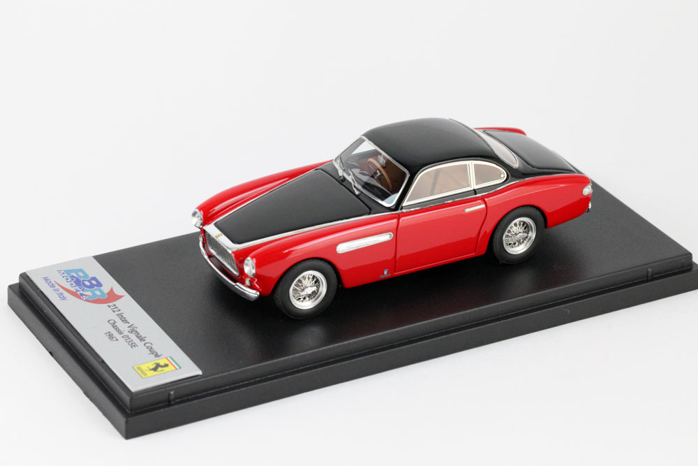BBR190C フェラーリ 212 Inter Vignale Coupe 1951 Chassis 0135E RHD Red /Black