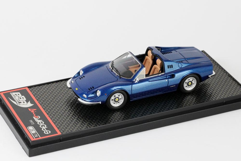 BBRC054G Ferrari Dino 246 GTS 1972 Metal Blue Limited 70pcs