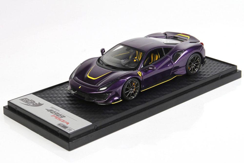 BBRC202HK Ferrari 488 Pista Metal Violet Limited 20pcs