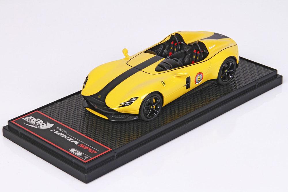 BBRC221FST Ferrari Monza SP2 Giallo Modena / Black stripe Limited 78pcs