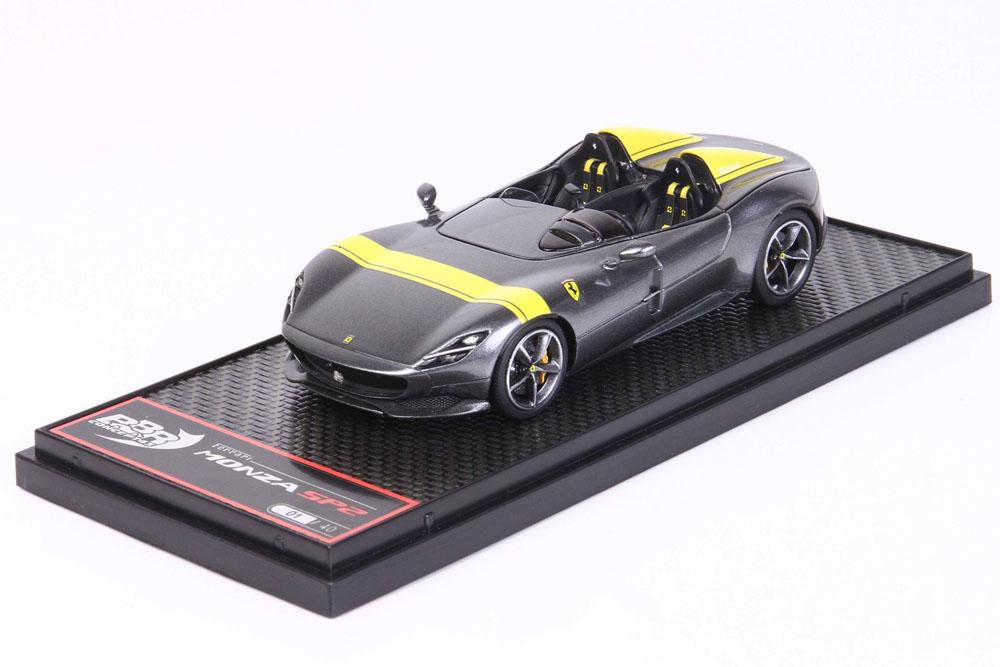 BBRC221H Ferrari Monza SP2 Metallic Silver Limited 40pcs