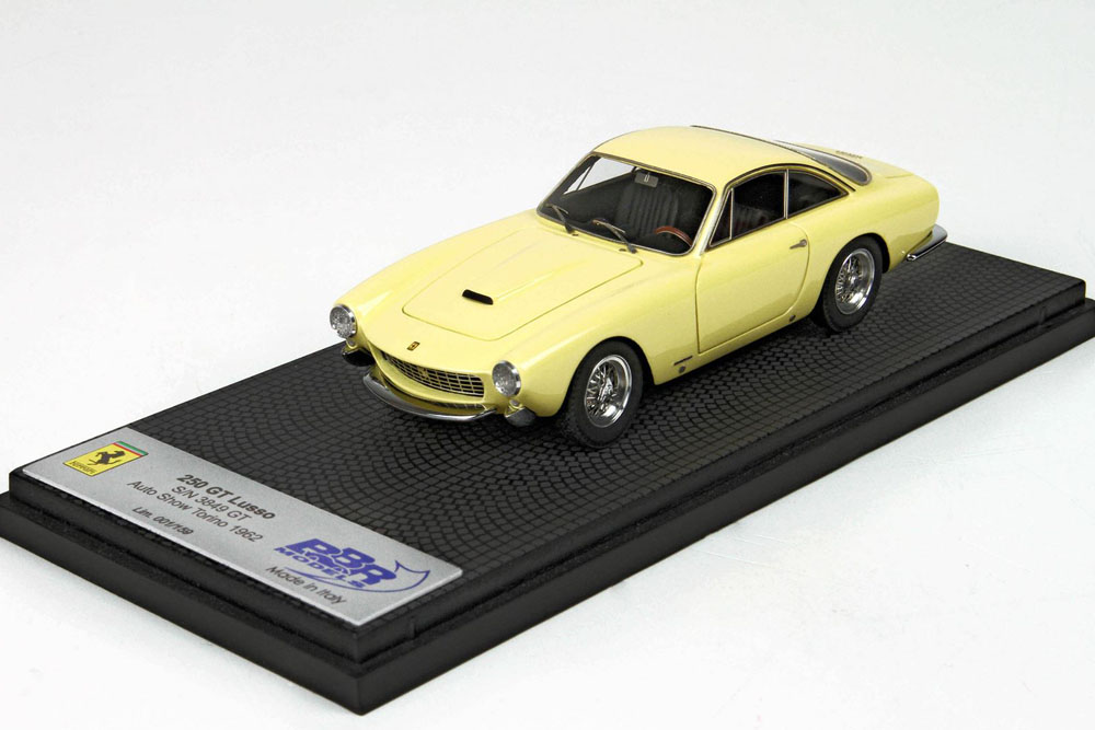 BBR CAR39A Ferrari 250 GT Berlinetta Lusso S/N 4335 1962 Paris Motor Show Limited 159pcs