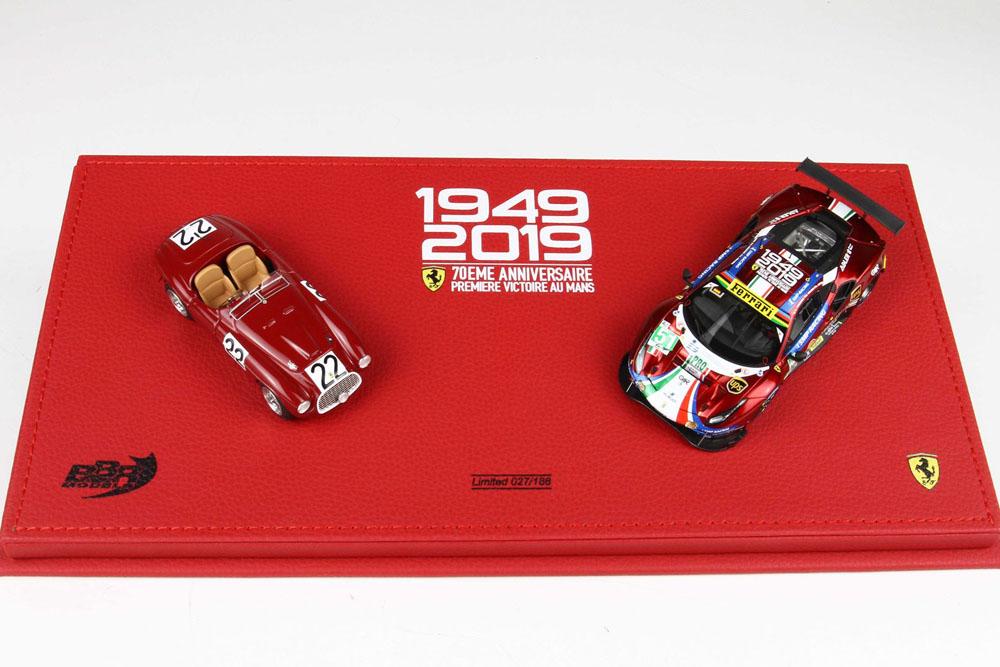 BBR COFLM2019 Ferrari 166MM Le Mans 1949 / 488GTE Le Mans 2019 70th Anniversary set Limited 188pcs