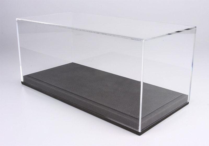 BBR 1/18 ディスプレイケース /グレーレザーベース (328mm x 168mm x 135mm)