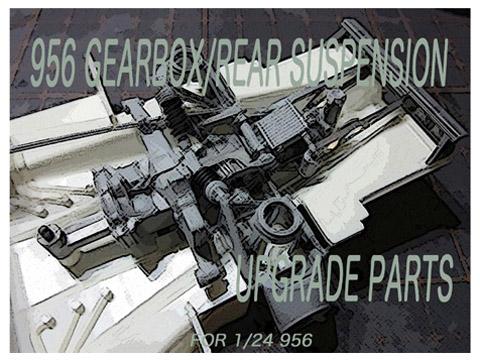 CLAY models P003 1/24 956 Gear Box /Rear Suspension Parts