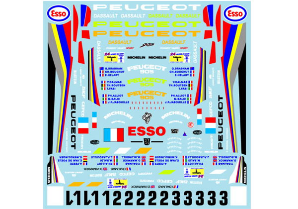 Museum collection D882 1/24 Peugeot 905 92&93 Le Mans (Heller) 【メール便可】
