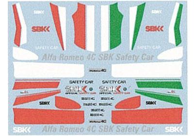 Museum collection D885 1/64 AlfaRomeo 4C SBK Safty car (Kyosho) 【メール便可】