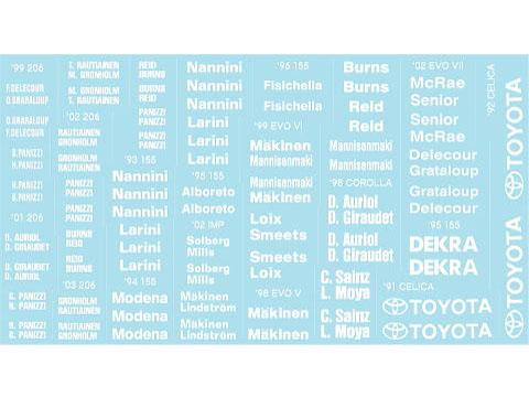 Museum collection D887 1/24 White Logo Set (Separation) 【メール便可】