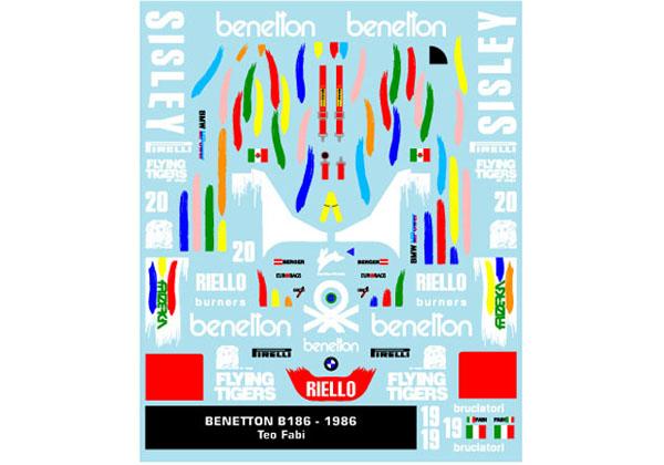 Museum collection D906 1/43 Benetton B186 (DeAgostini) 【メール便可】