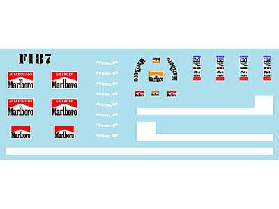 Museum collection D964 1/43 Ferrari F187 Logo (Looksmart) 【メール便可】