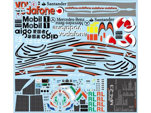F'artefice Decal FE-0095 1/8 McLaren MP4-23 Re-paint Decal Type3 for De