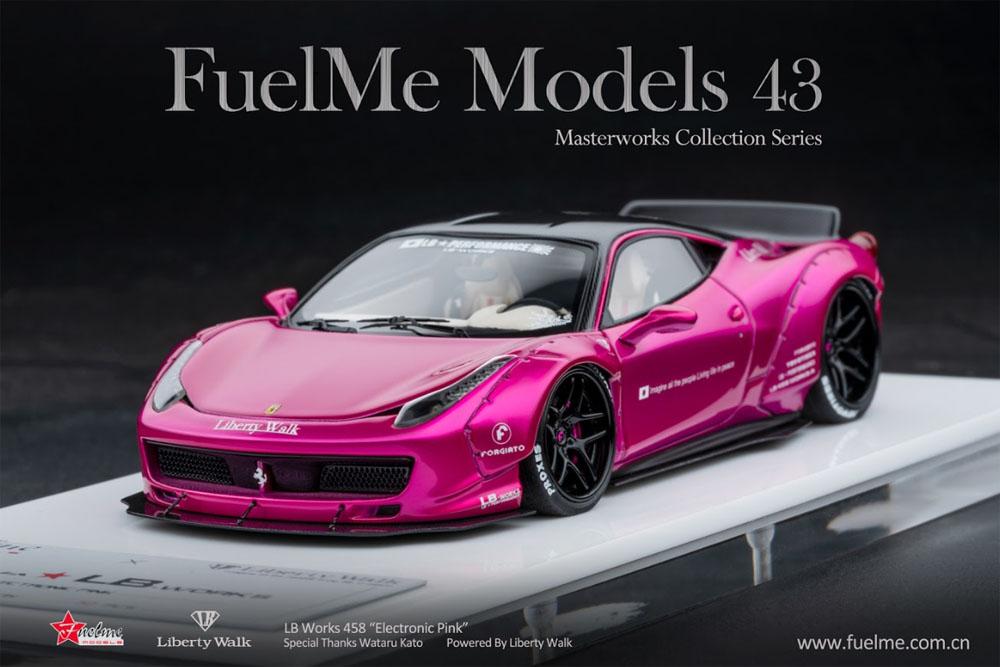 Fuelme Models FM43005LM-K 1/43 Liberty Walk LB Works 458 Electronic Pink Limited 50pcs