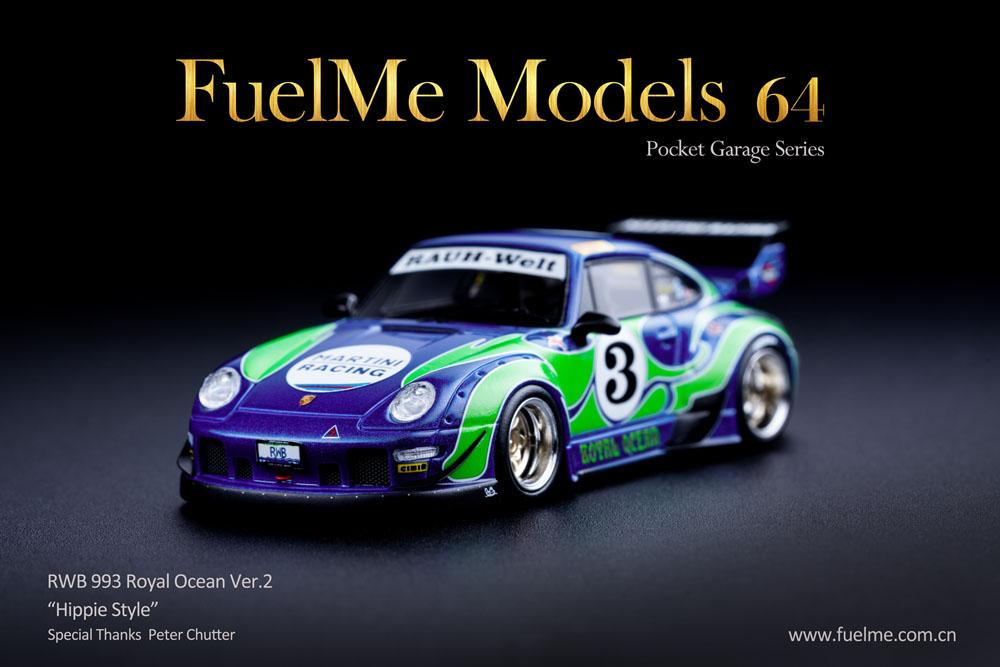 Fuelme Models FM64002-06B 1/64 Porsche 911(993) Rauh-Welt Begriff Royal Ocean ver.2 Hippie Style