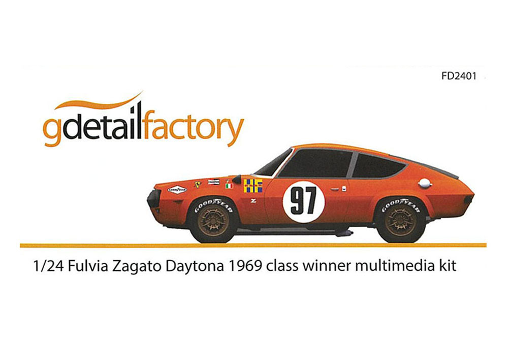 G detail factory 1/24キット Lancia Fulvia Zagato Daytona 1969 class winner